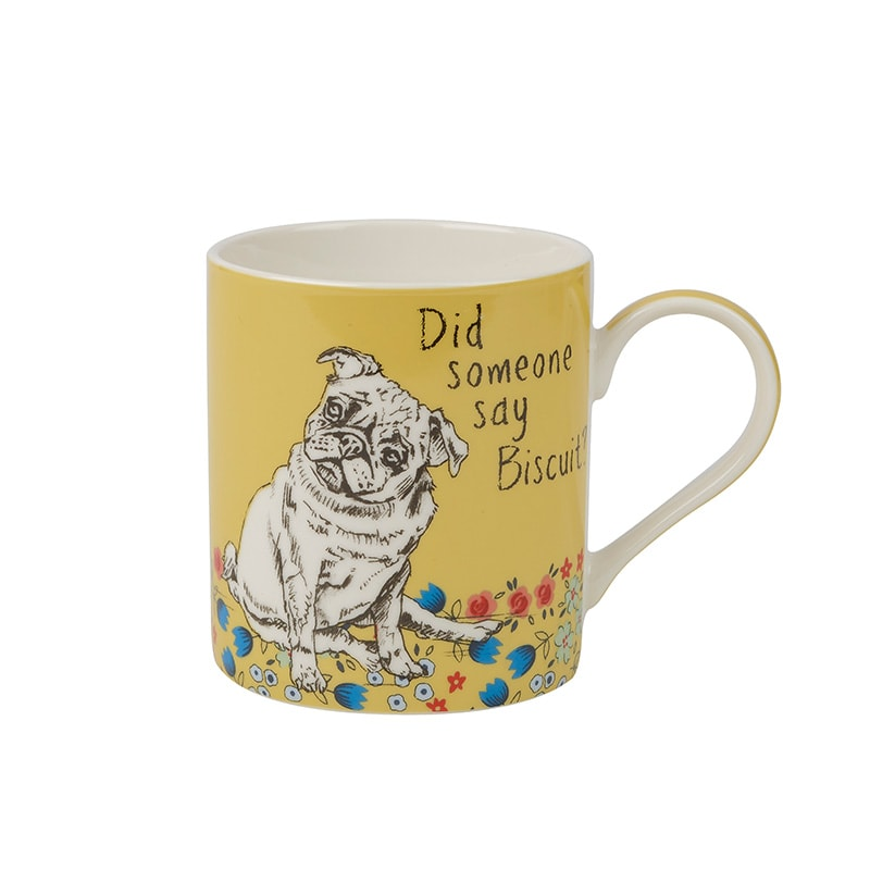 Couture Companions Set Of 2 Bonjour & Biscuit Mugs