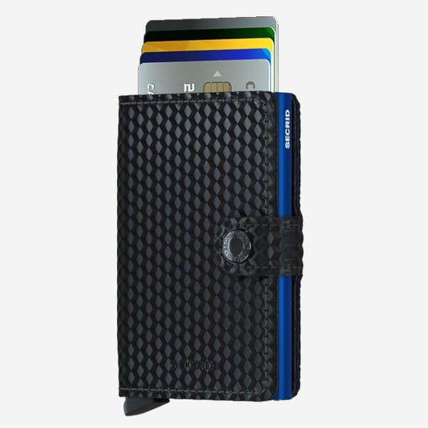 Secrid Black & Blue Cubic Miniwallet