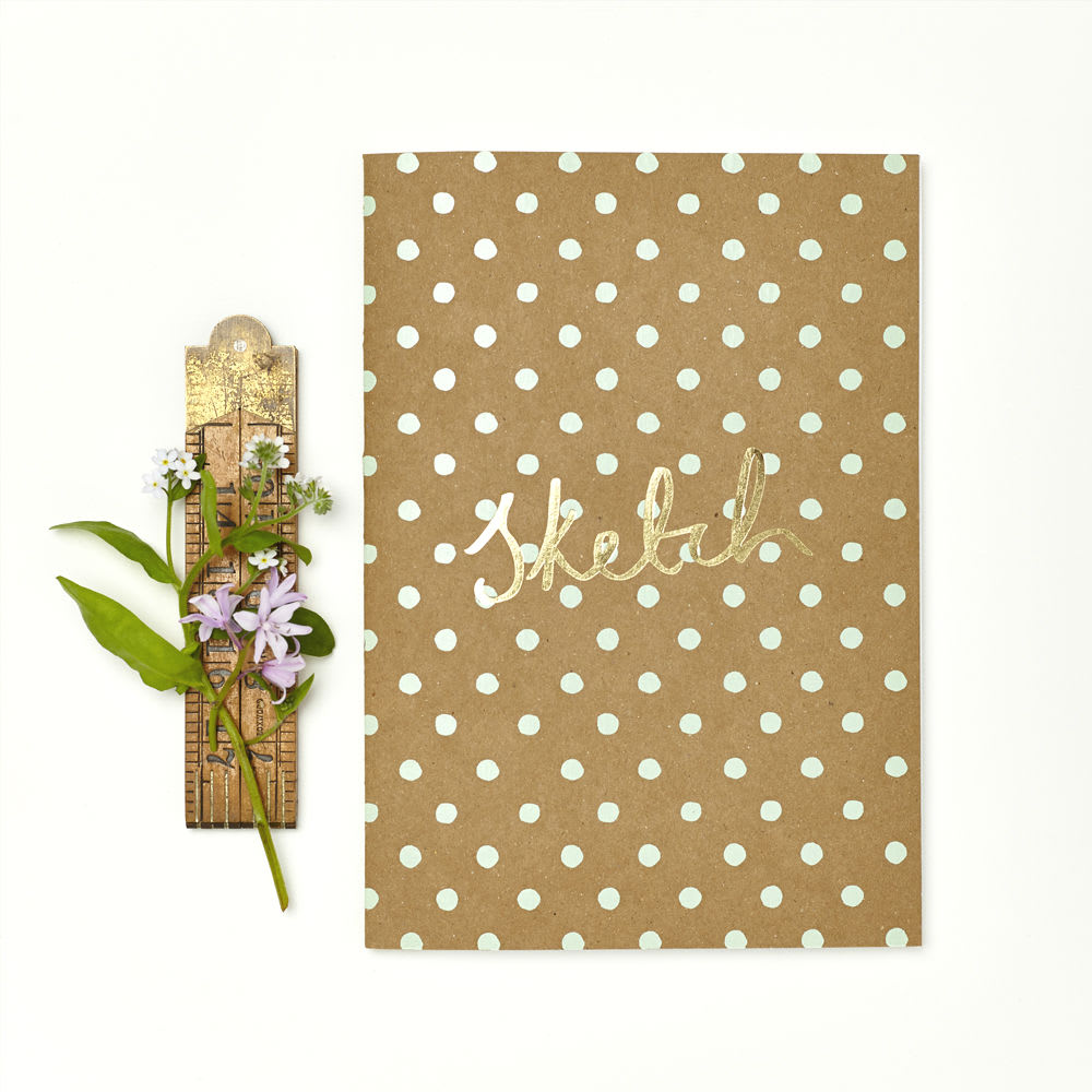 Katie Leamon  Polka Notebook