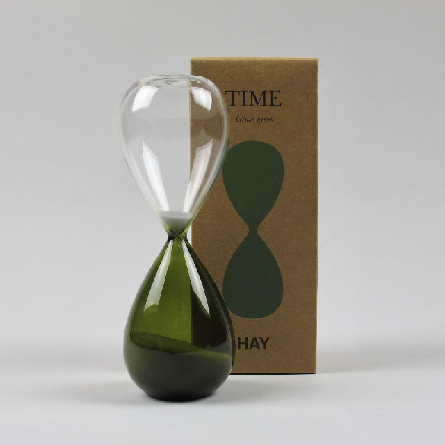 HAY Green Grass 15 Minutes  Glass Sand Timer