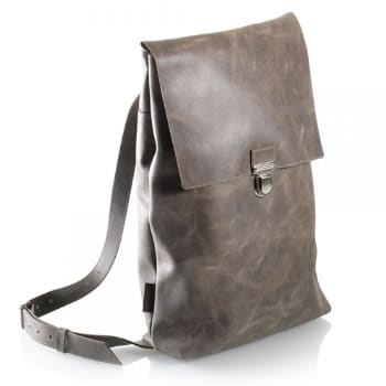 a8e11dd24bceb Made in Mitte Grey Leather Backpack