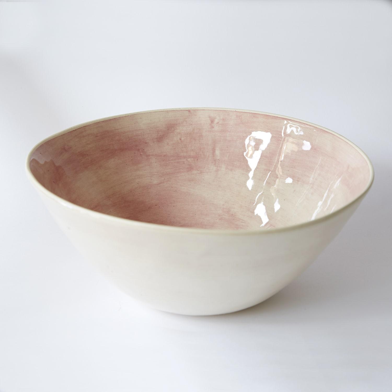 Wonki Ware  Pink Noodle Bowl