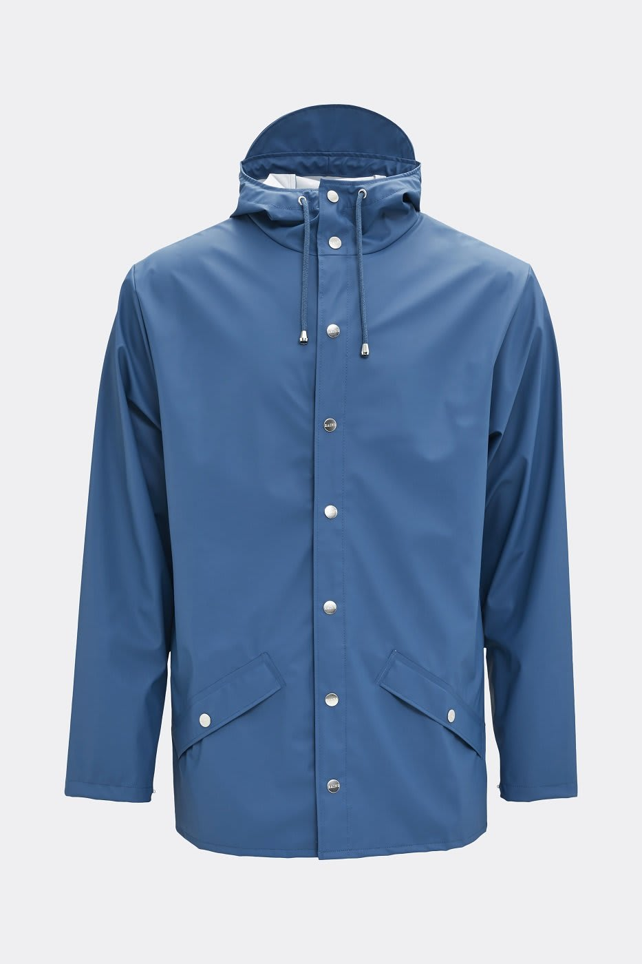 Rains Classic Jacket In Faded Blue