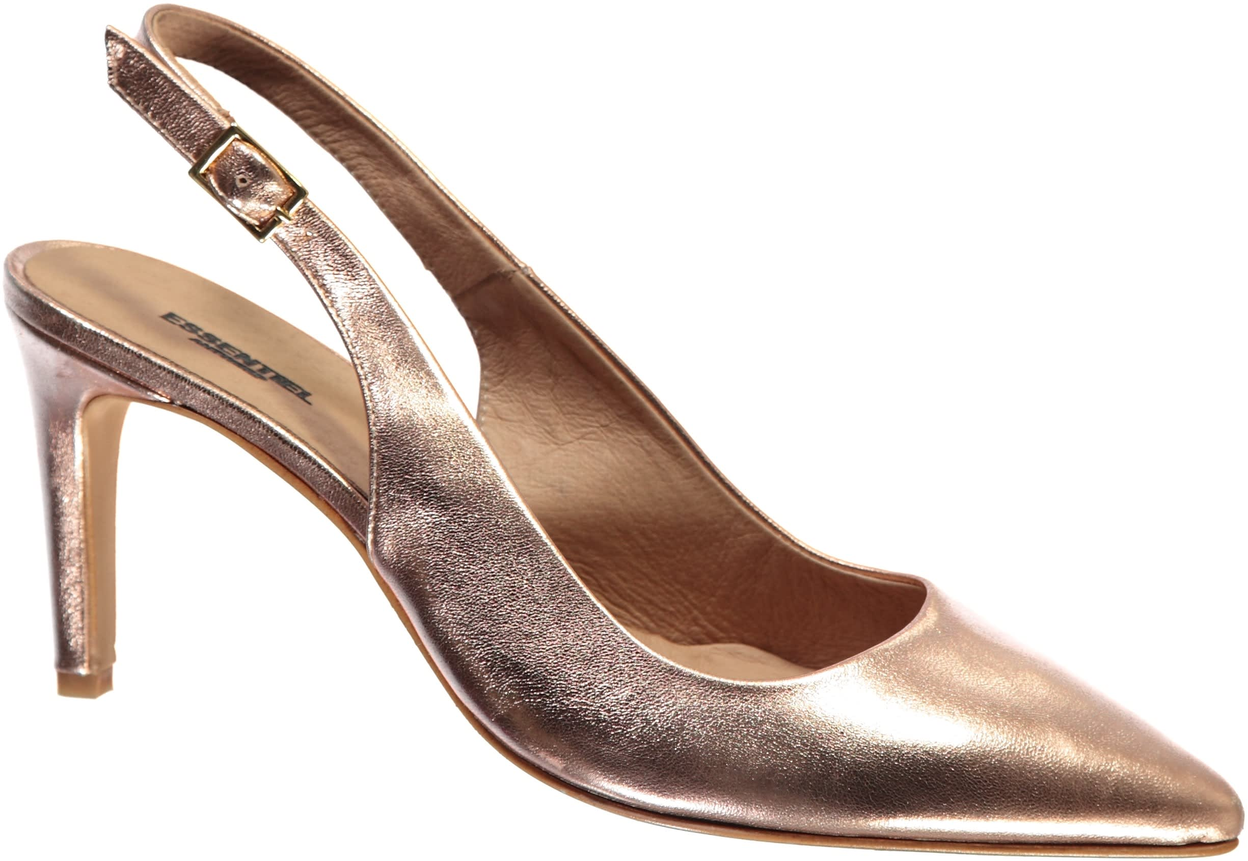 Essentiel Antwerp Rose Gold Metallic Proxy Heeled Pump
