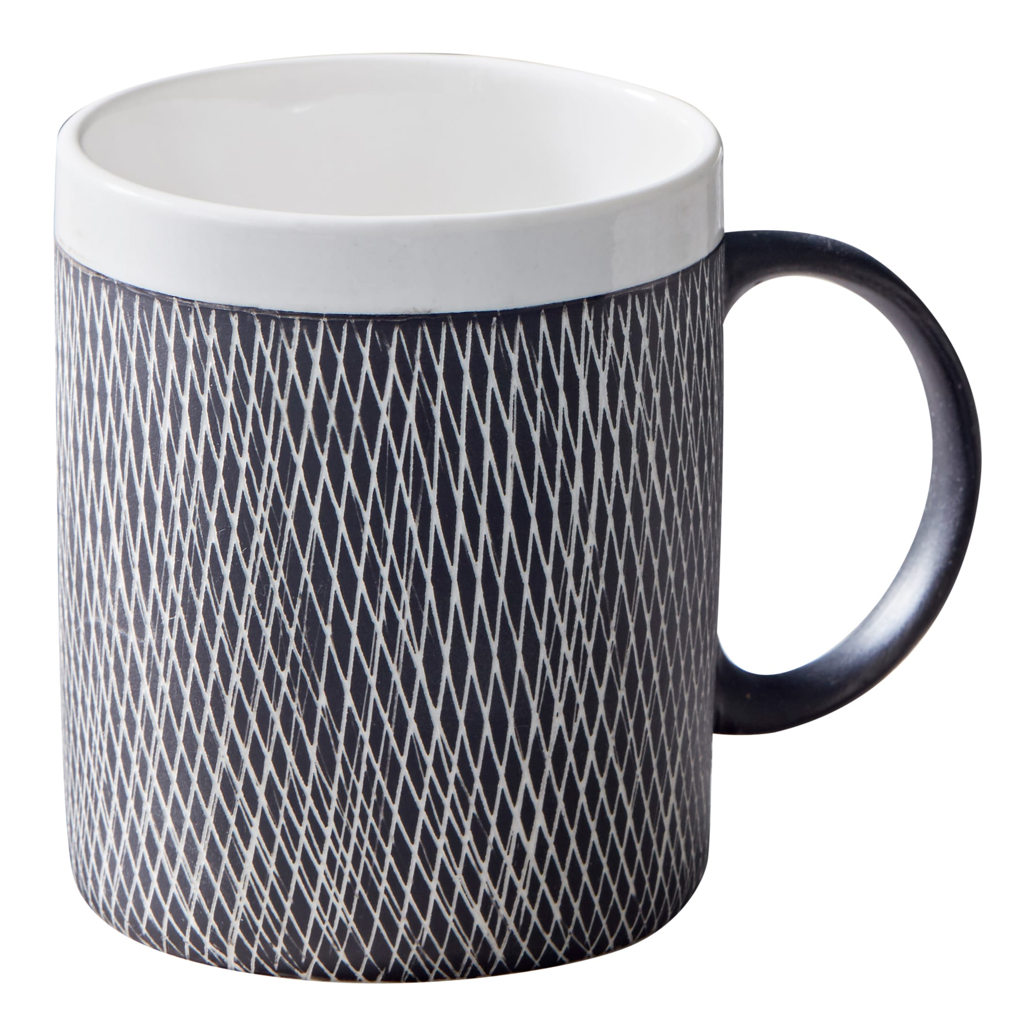 Black And White Etched Mug