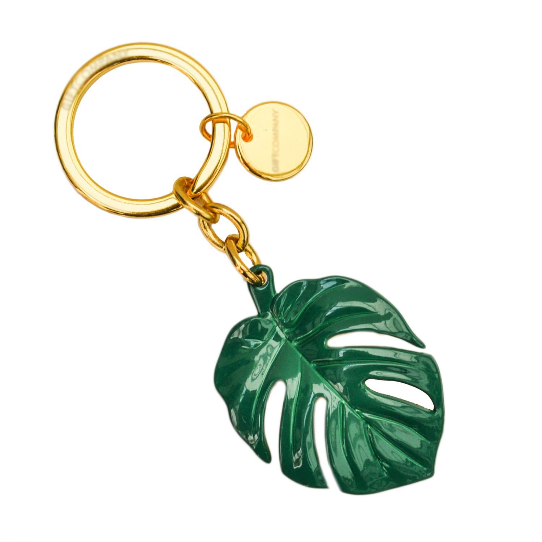 Tropical Monstera Leaf Keyring