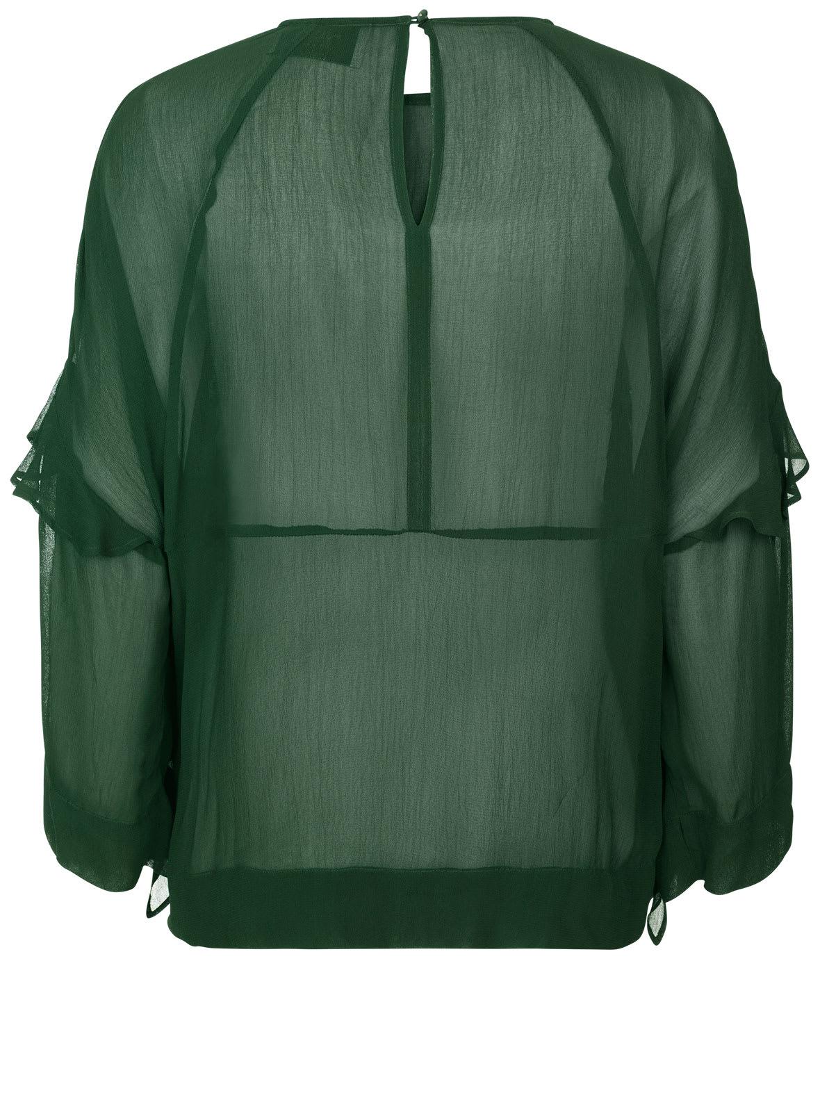 Munthe Green Veil Ruffle Top