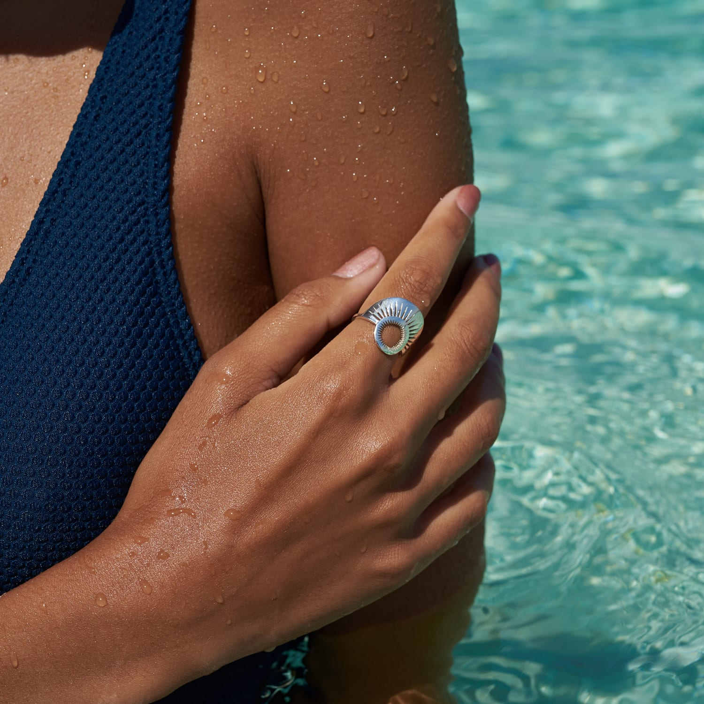 Zoe and Morgan  Silver Pocket Full Of Sunshine Ring