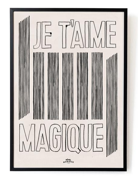Hotel Magique Je t'aime Magique Framed Art Print
