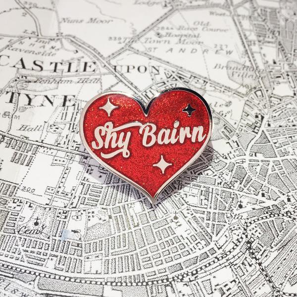 Pin Club Red Silver Shy Bairn Enamel Pin Badge