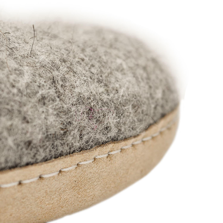 Egos Copenhagen Dove Grey Handmade 100% Wool Felted Slippers