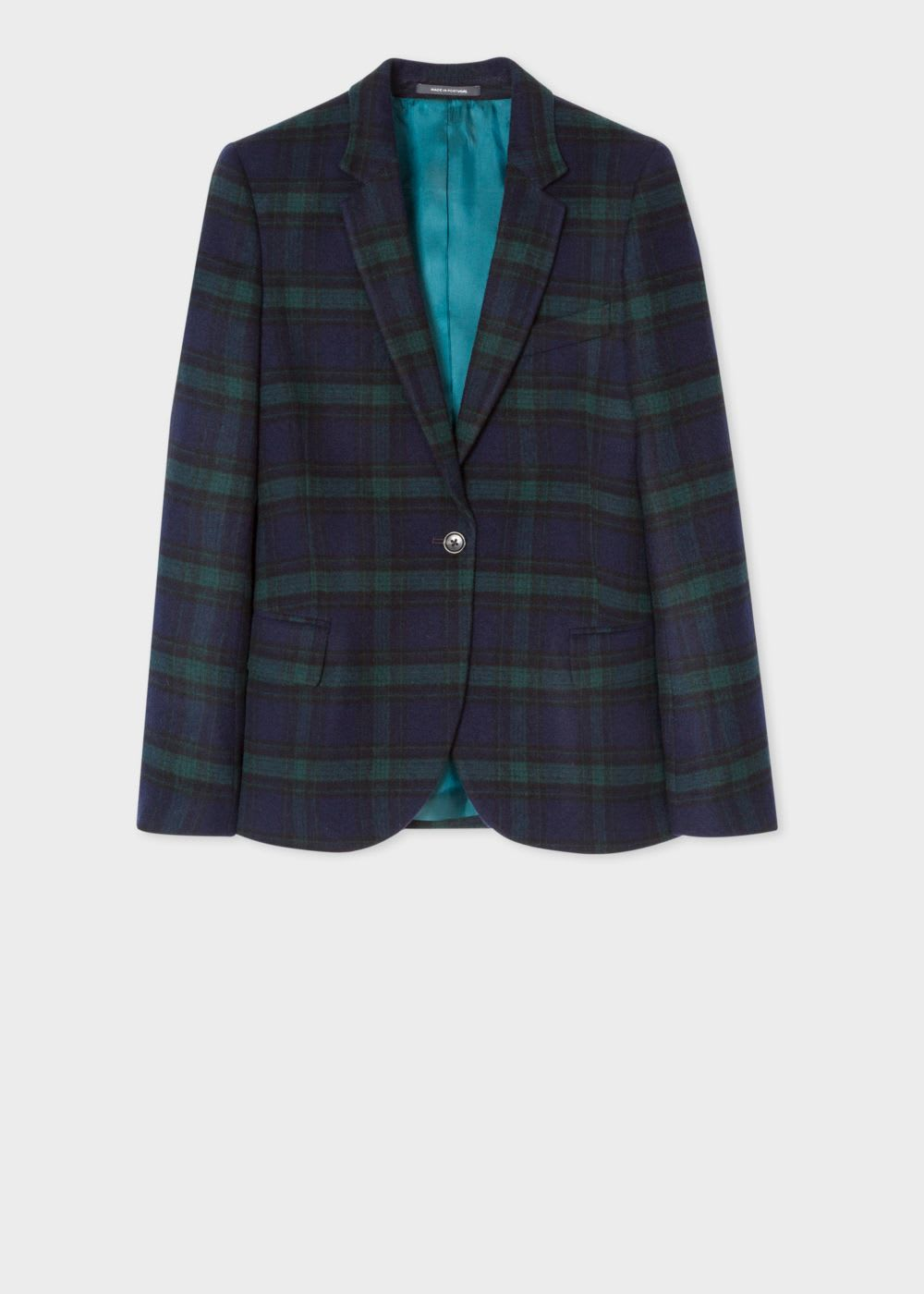 PS Paul Smith Blackwatch Tartan Wool Blend Blazer