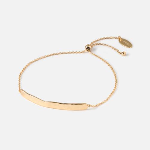 Orelia Gold ORE23133 Hammered Bar Slider Bracelet