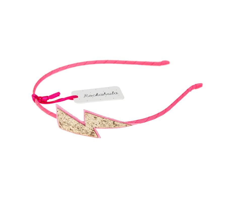 Rockahula Pink Lightning Flash Hair Band