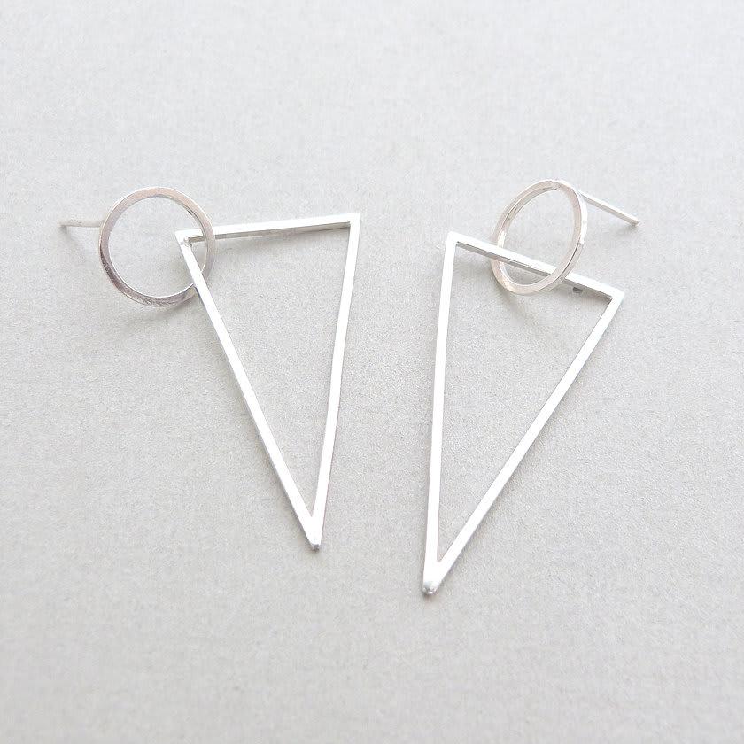Circle Triangle Drop Earrings
