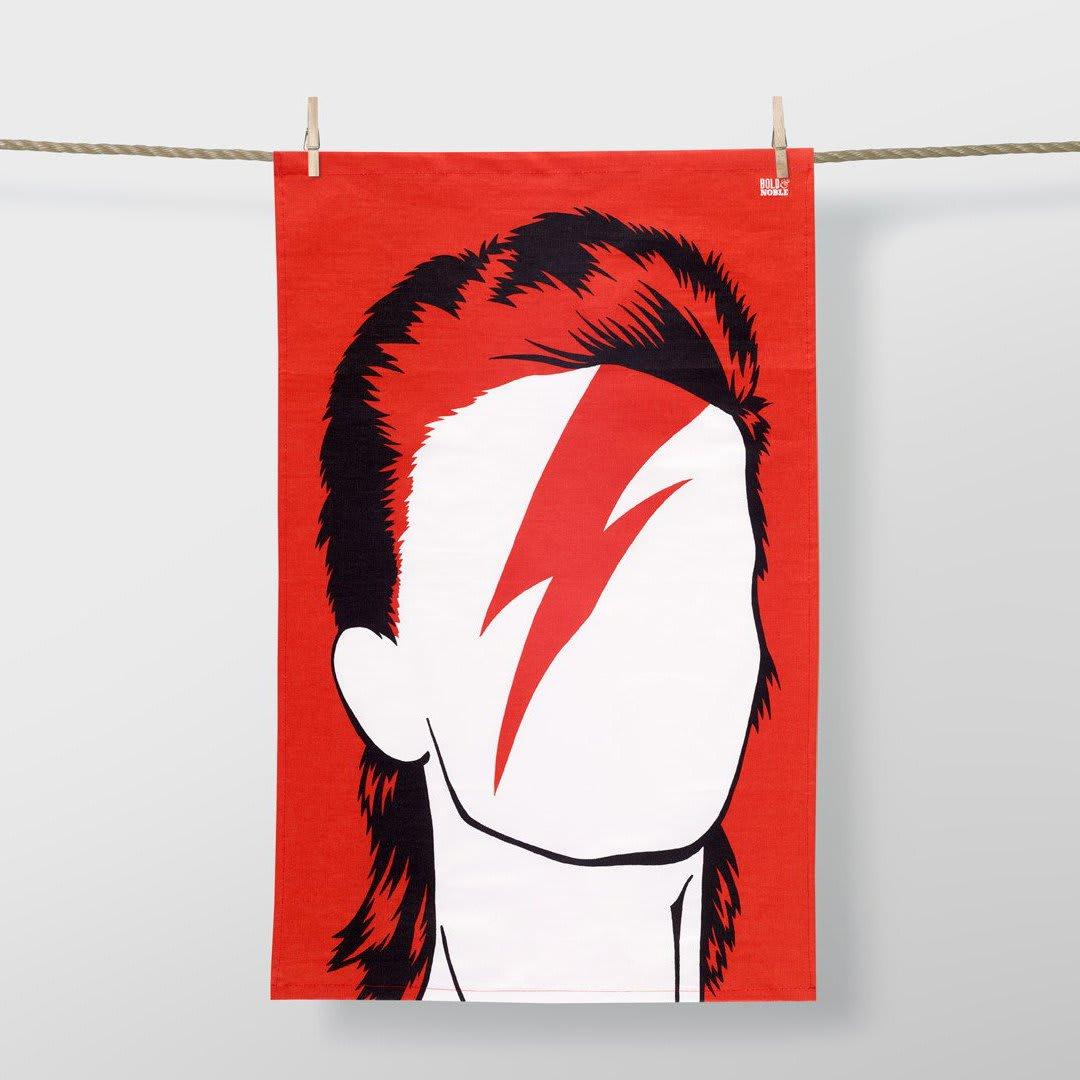 Bold & Noble  47 x 74cm Aladdin Sane David Bowie Tea Towel
