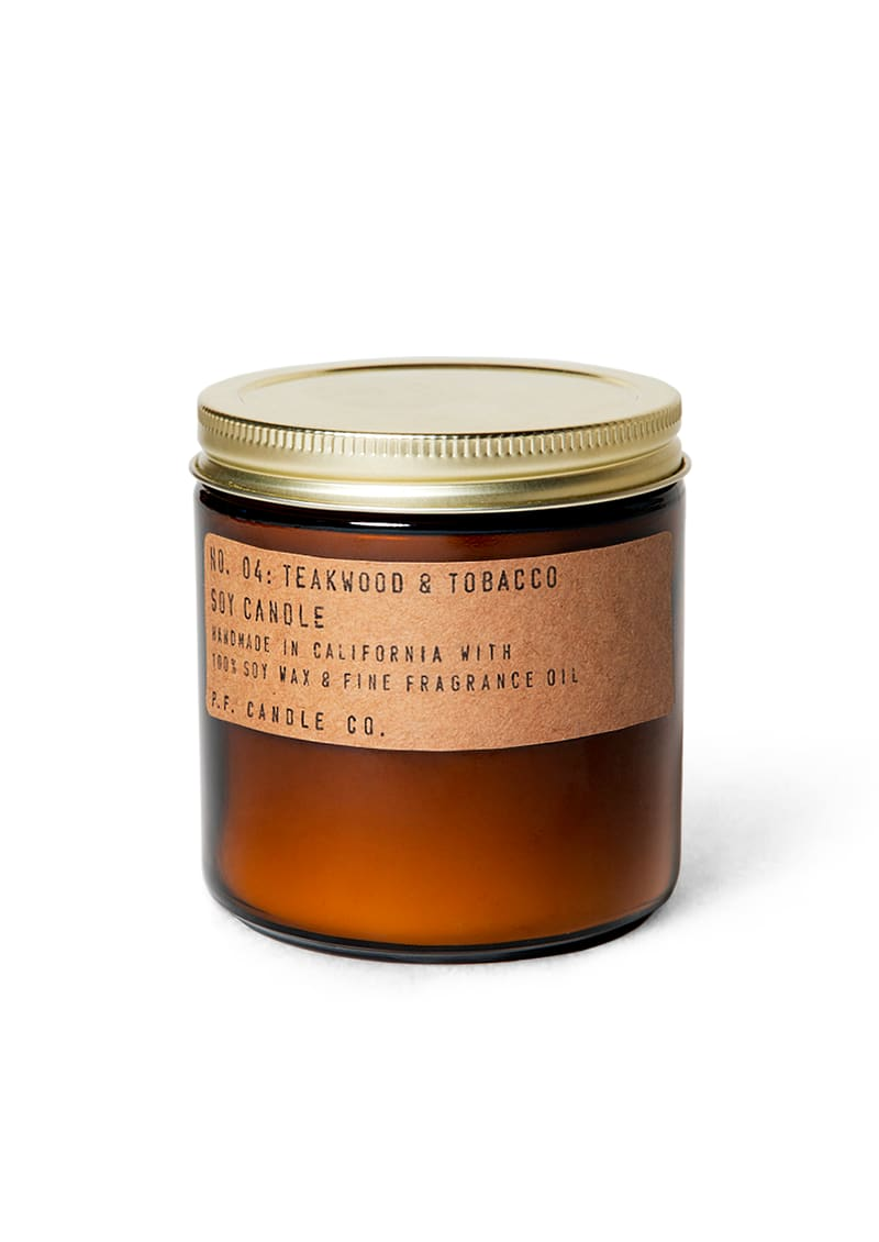 P.F. Candle Co Large Teakwood & Tobacco Candle