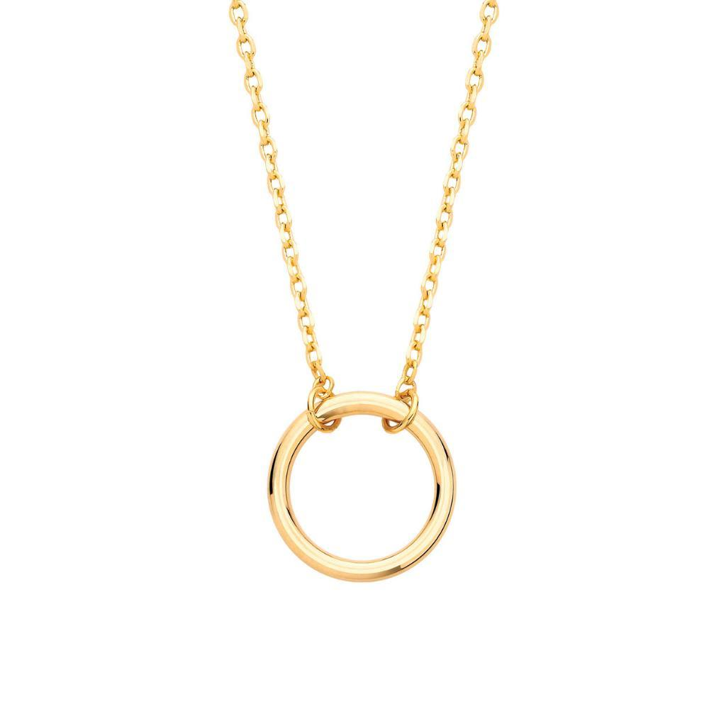 Estella Bartlett  Gold Plated Open Circle Necklace