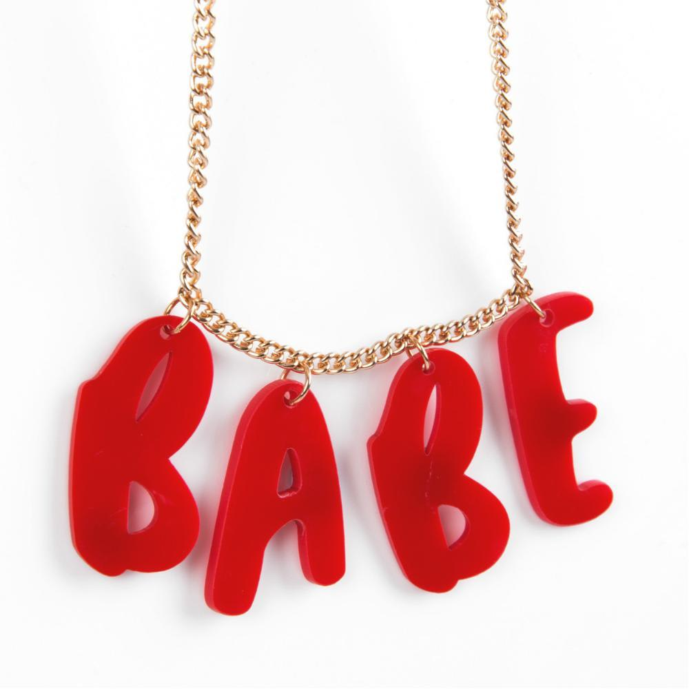 The Happy News Best Babe Necklace