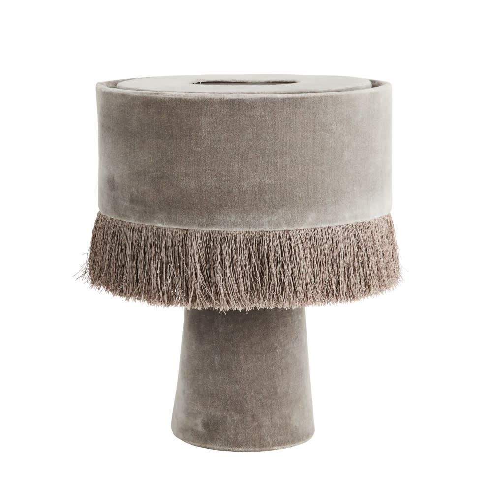 Madam Stoltz Madame Stoltz Velvet Table Lamp