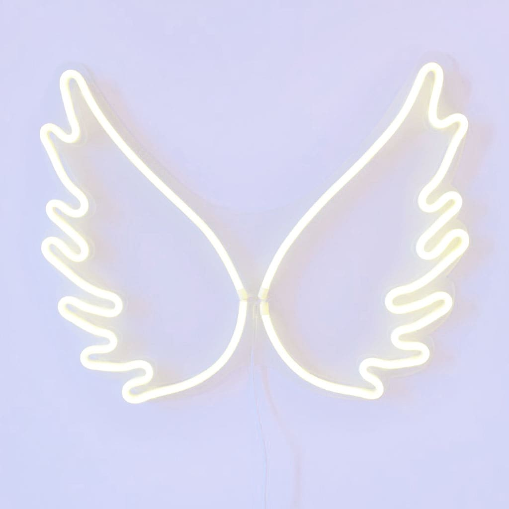 Angel Wings LED Neon Wall Art