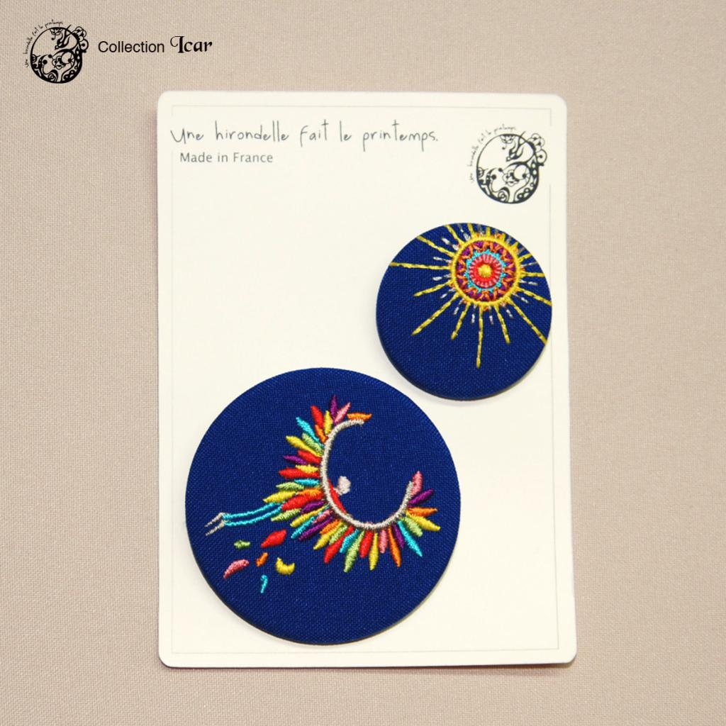 Aurore Rabourdin  Icarus and the Sun Duo Embroidery Badge