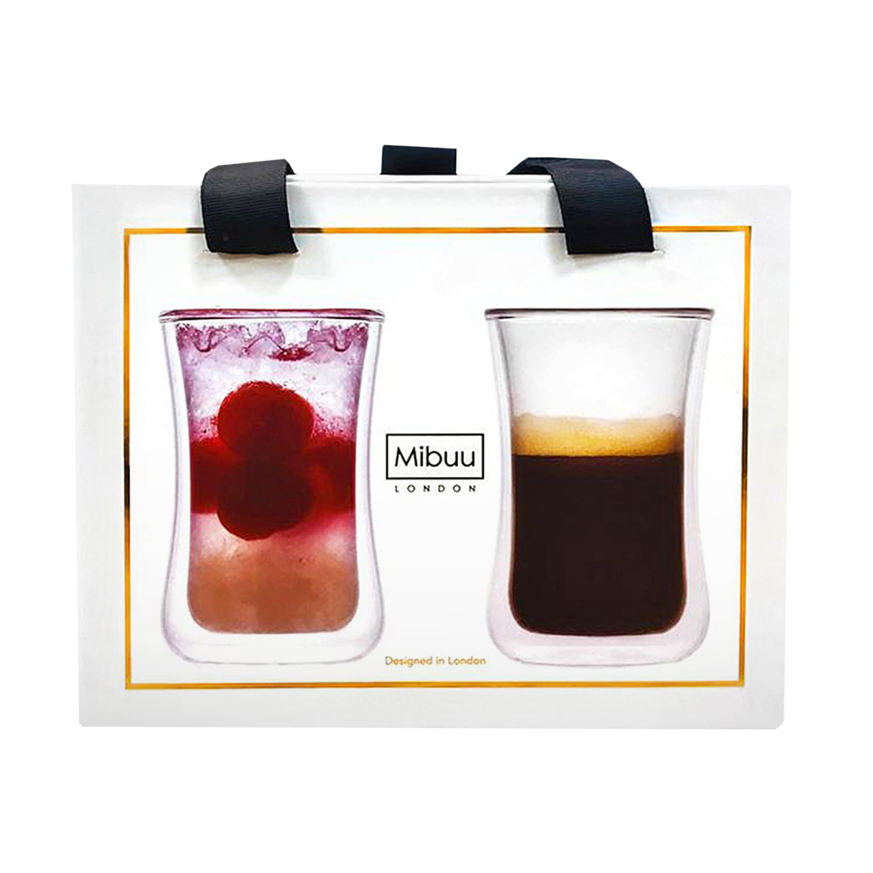 Mibuu Double walled glass cup - Mighty 2 Pack