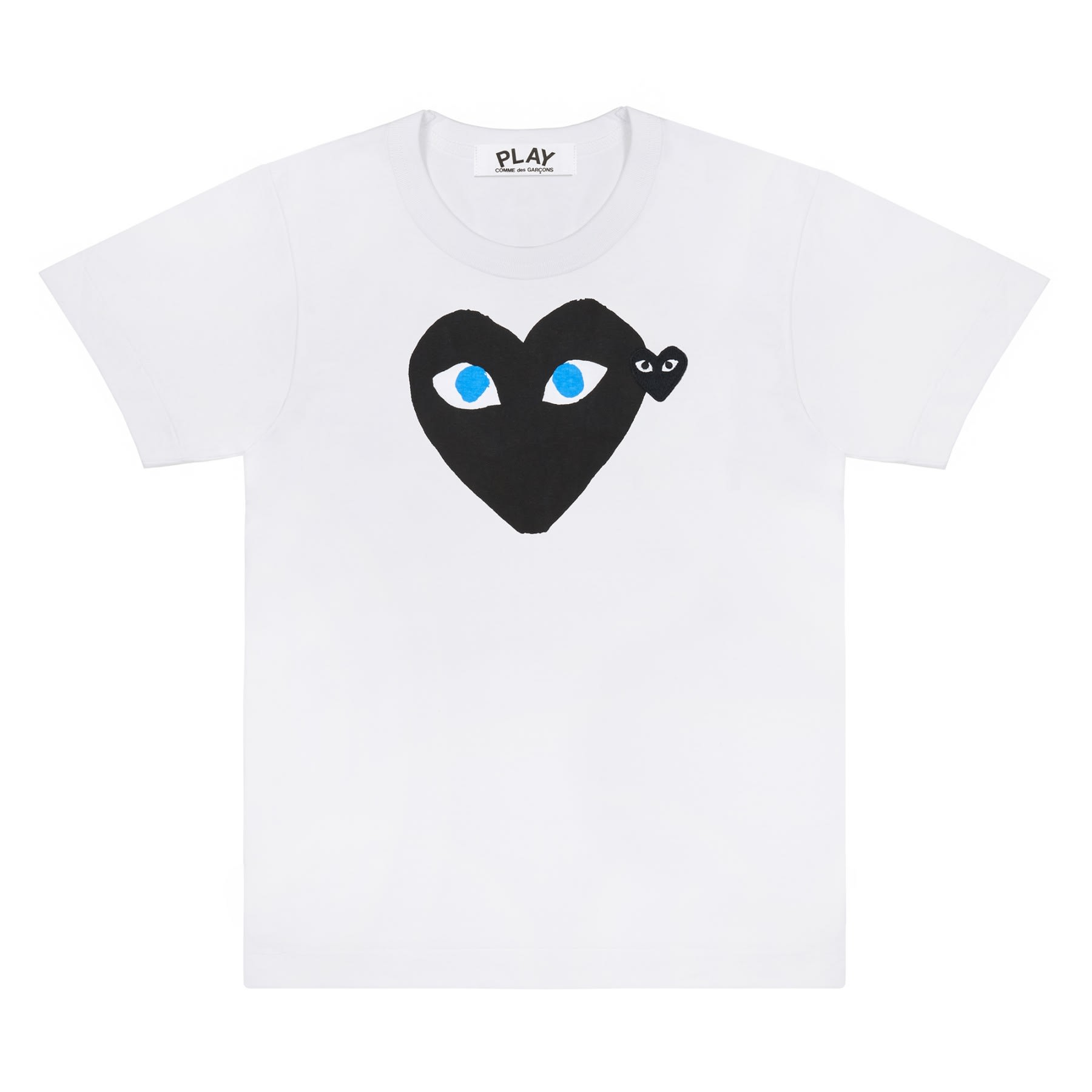 Comme Des Garcons Play Black T-Shirt With Blue Eyes