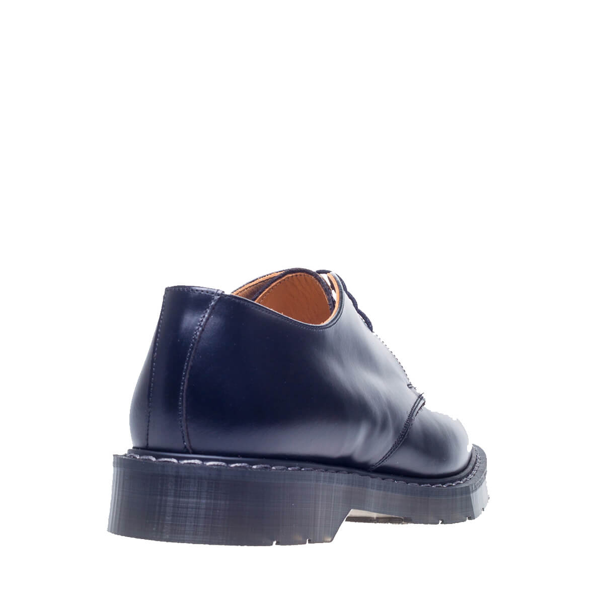 Solovair Black High Shine 3 Eye Gibson Shoe