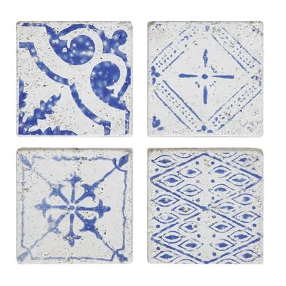 Bloomingville Terrain Tiles Blue Set Of 4