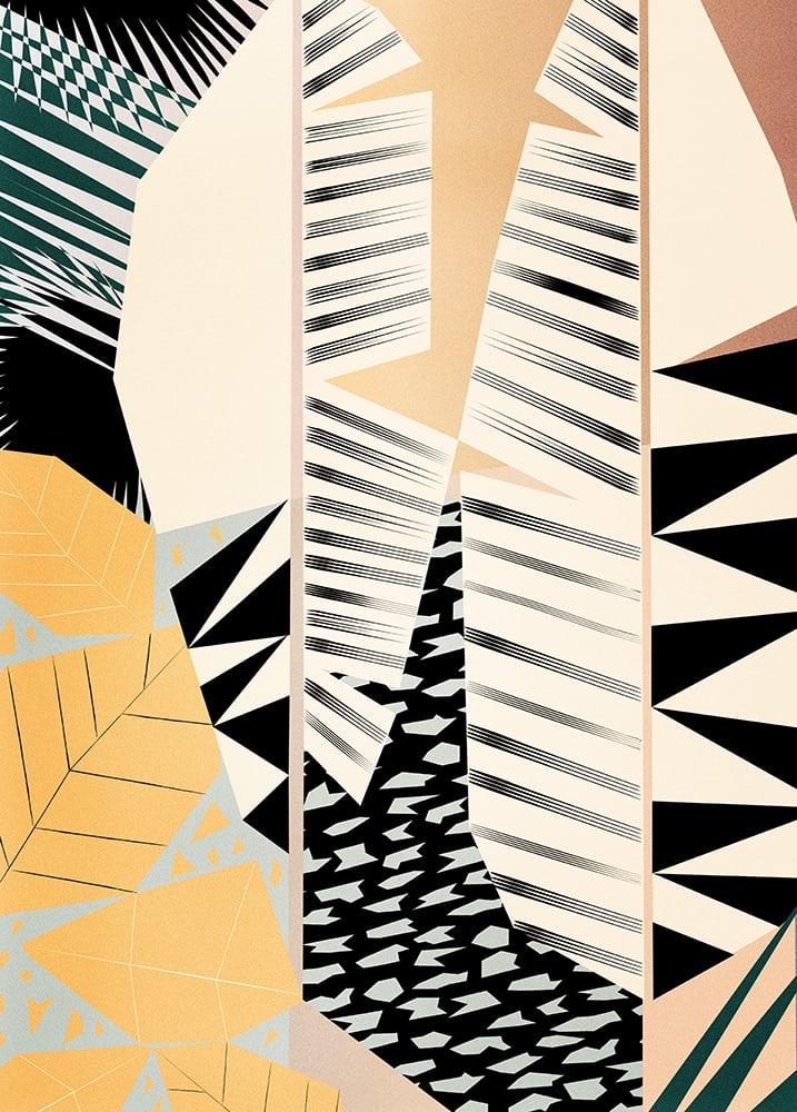 Dowse Yanomamo Abstract Botanical Art Print