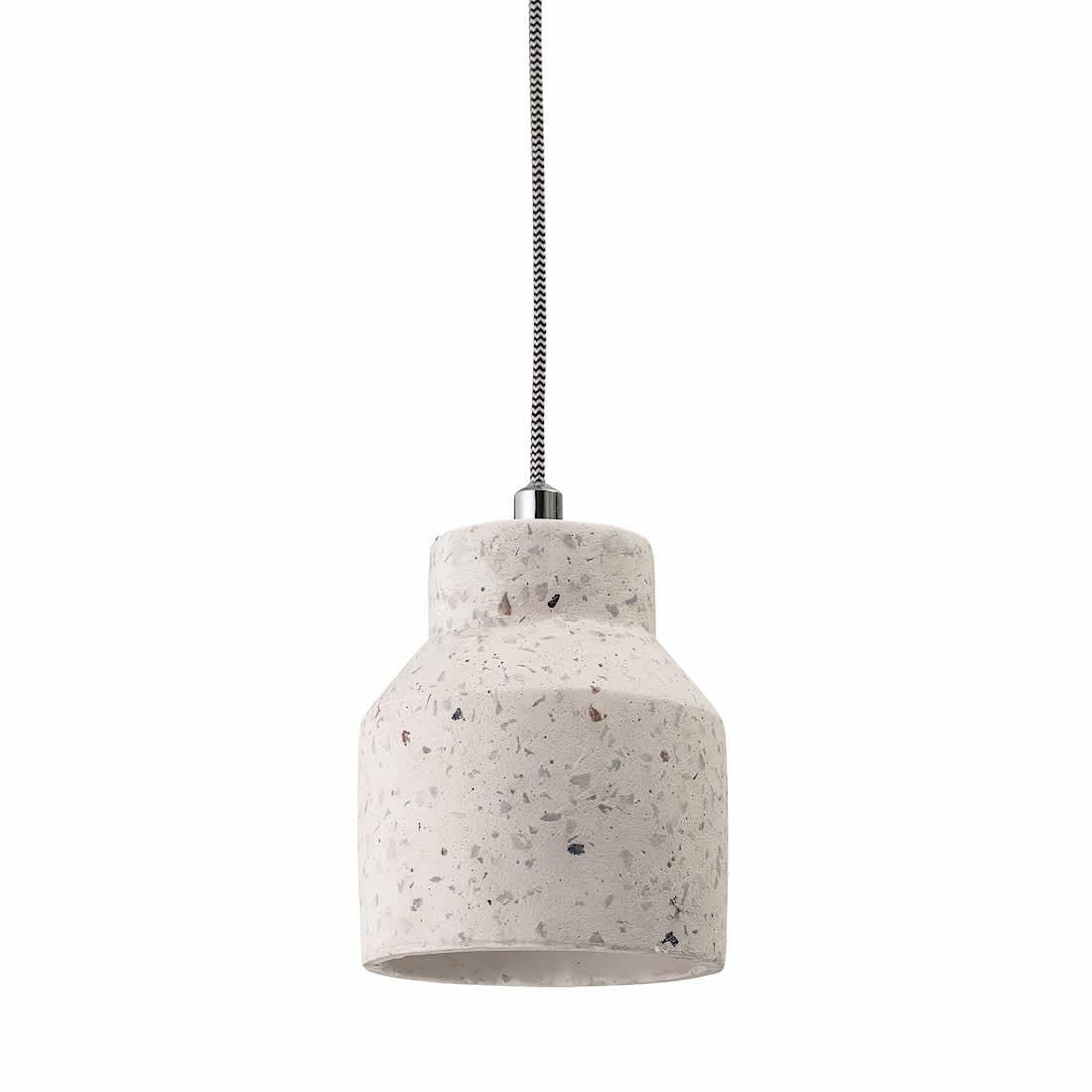 Bloomingville Natural White Concrete Pendant Light