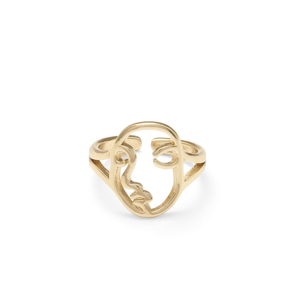 A Weathered Penny  Gold Face Adjustable Ring