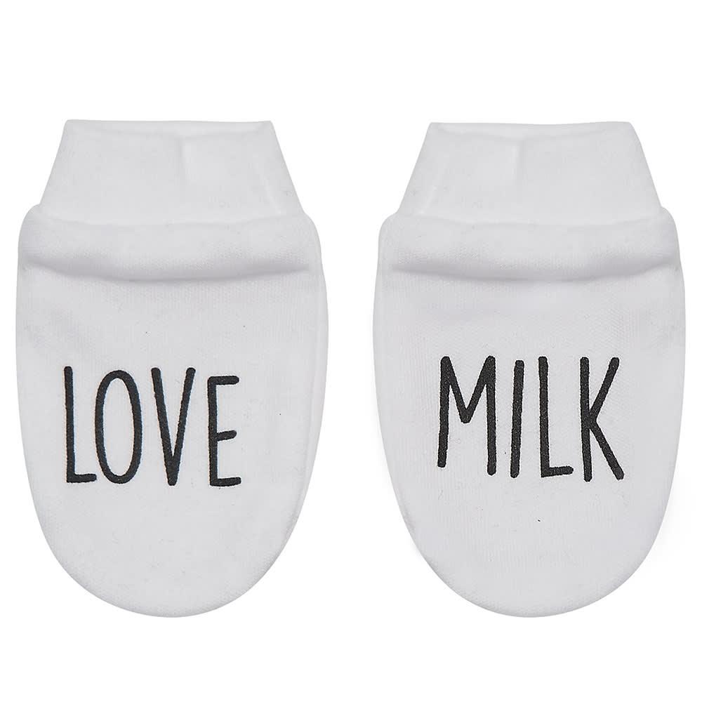 PEACHEYBOO White Love Milk Mitts