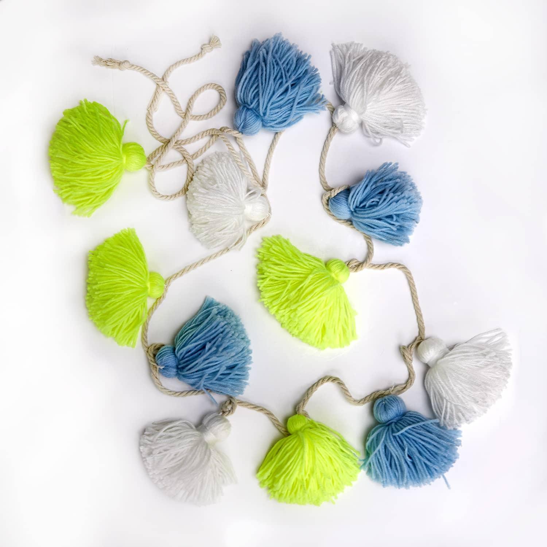 Meri Meri Blue Wool Tassle Garland