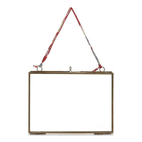 Nkuku Medium Brass Kiko Landscape Frame