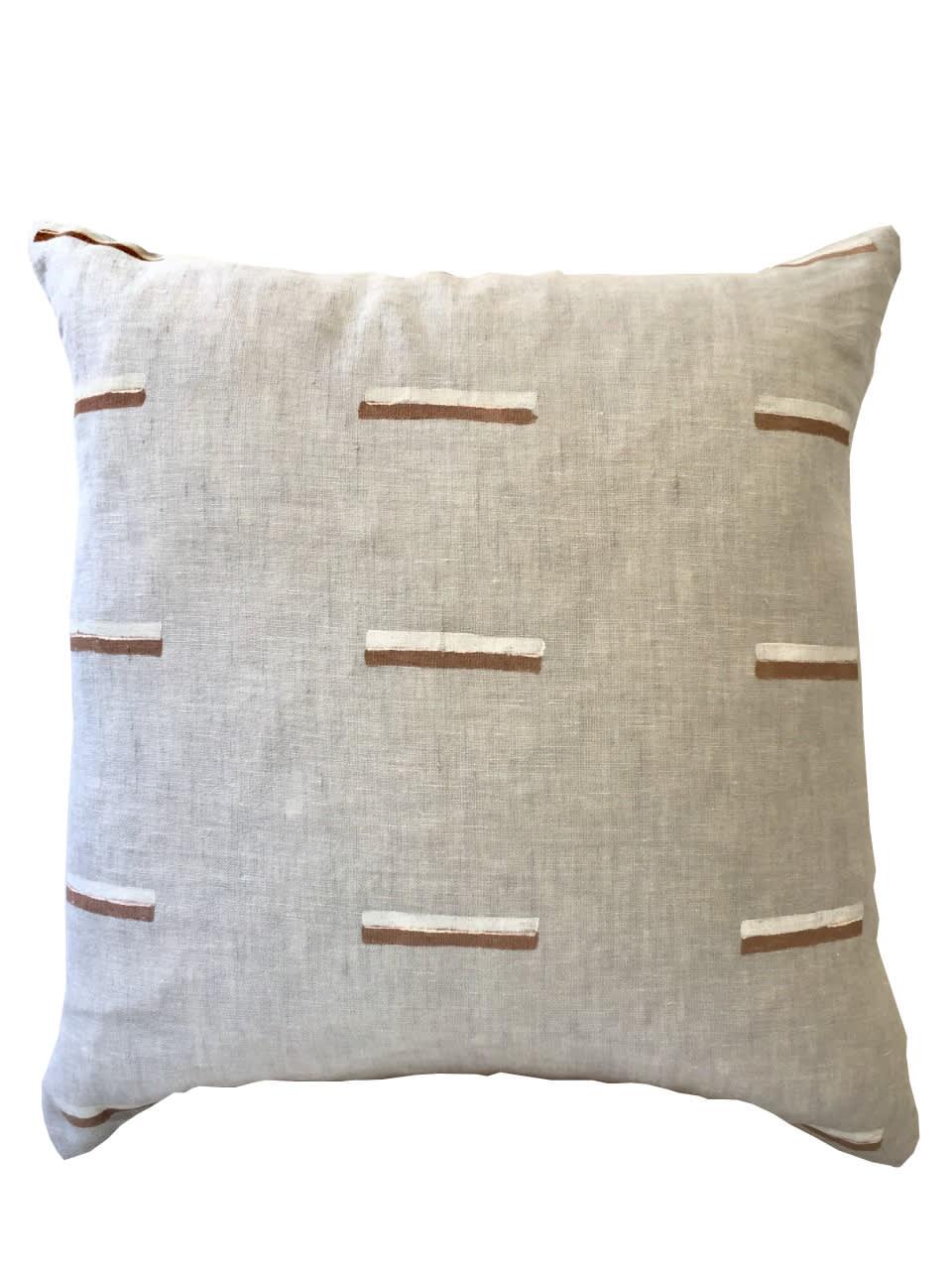 Ren London Agnes Linen Cushion in Tan