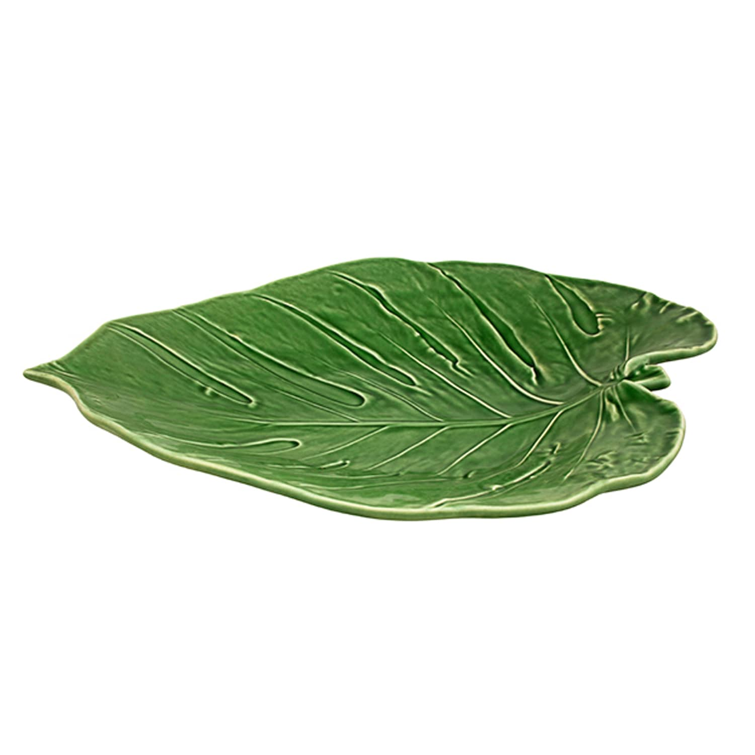 Bordallo Pinheiro Handmade Tropical Monstera Leaf Dish