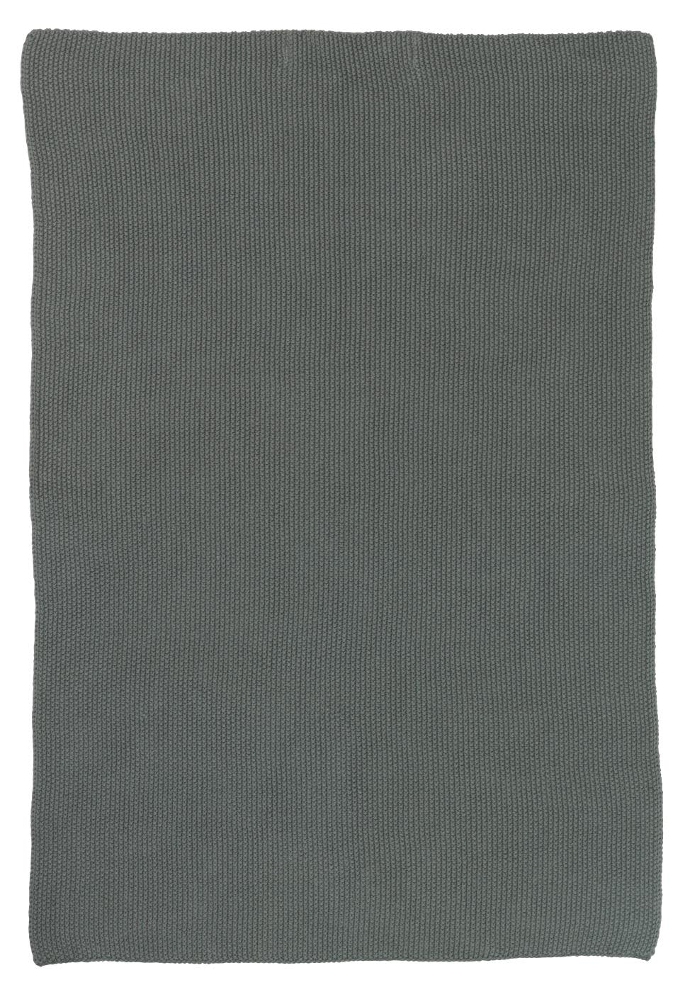 Ib Laursen Moss Green Knitted Cotton Towel
