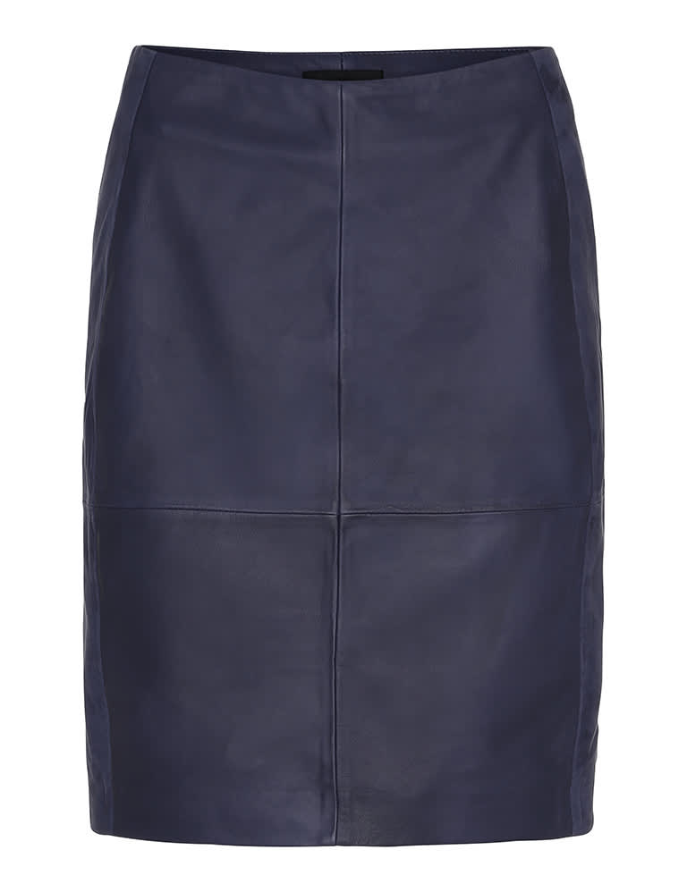2NDDAY Navy 2ND Cecilia Leather Skirt