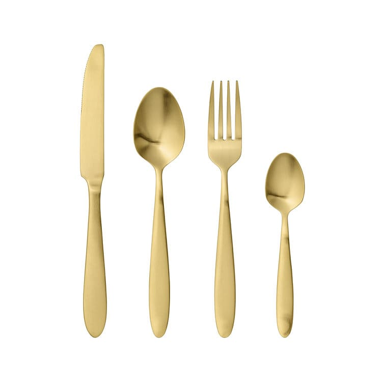 Bloomingville Gold Cutlery Set Of 4