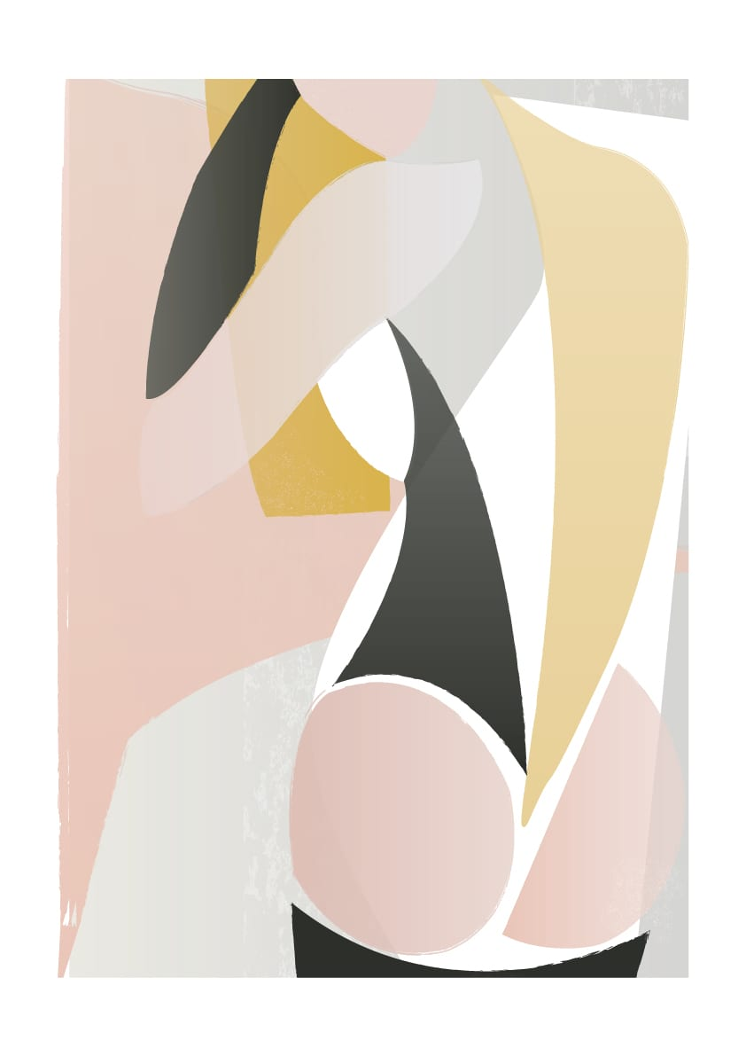 Dowse Dressing- Abstract Nude Fine Art Print