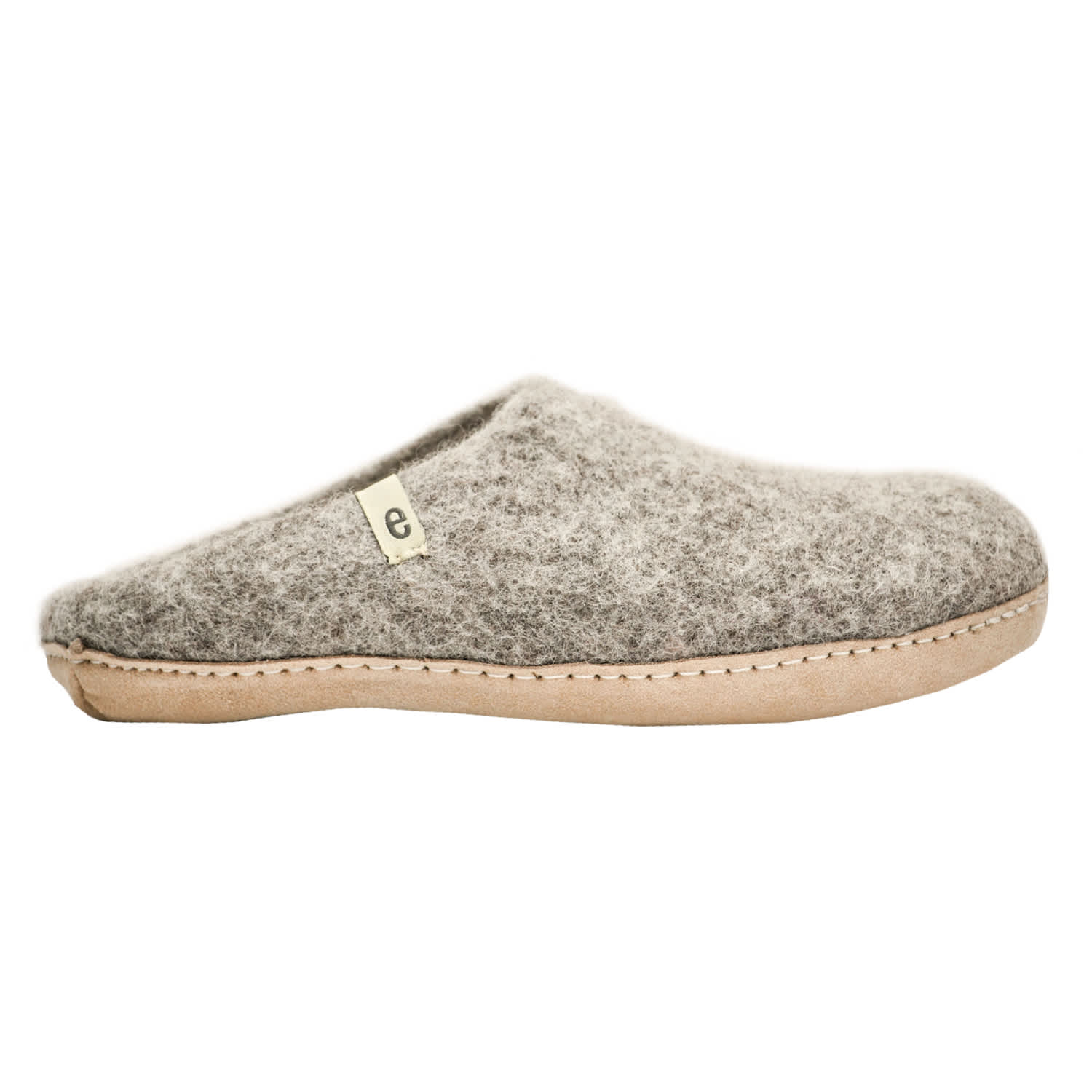Egos Copenhagen Dove Grey Handmade 100% Wool Felted Slippers