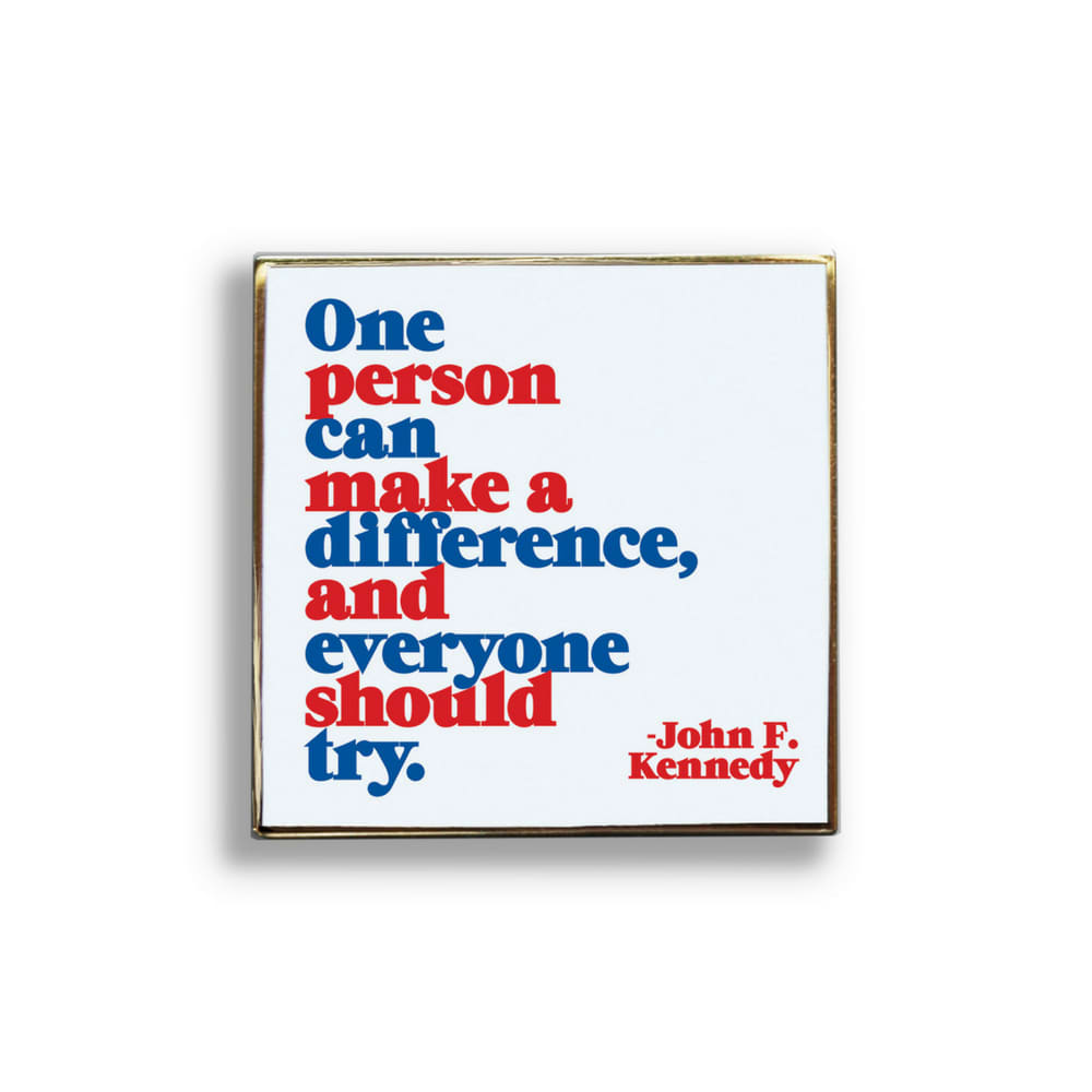 Quotable Make A Difference Pin Badge