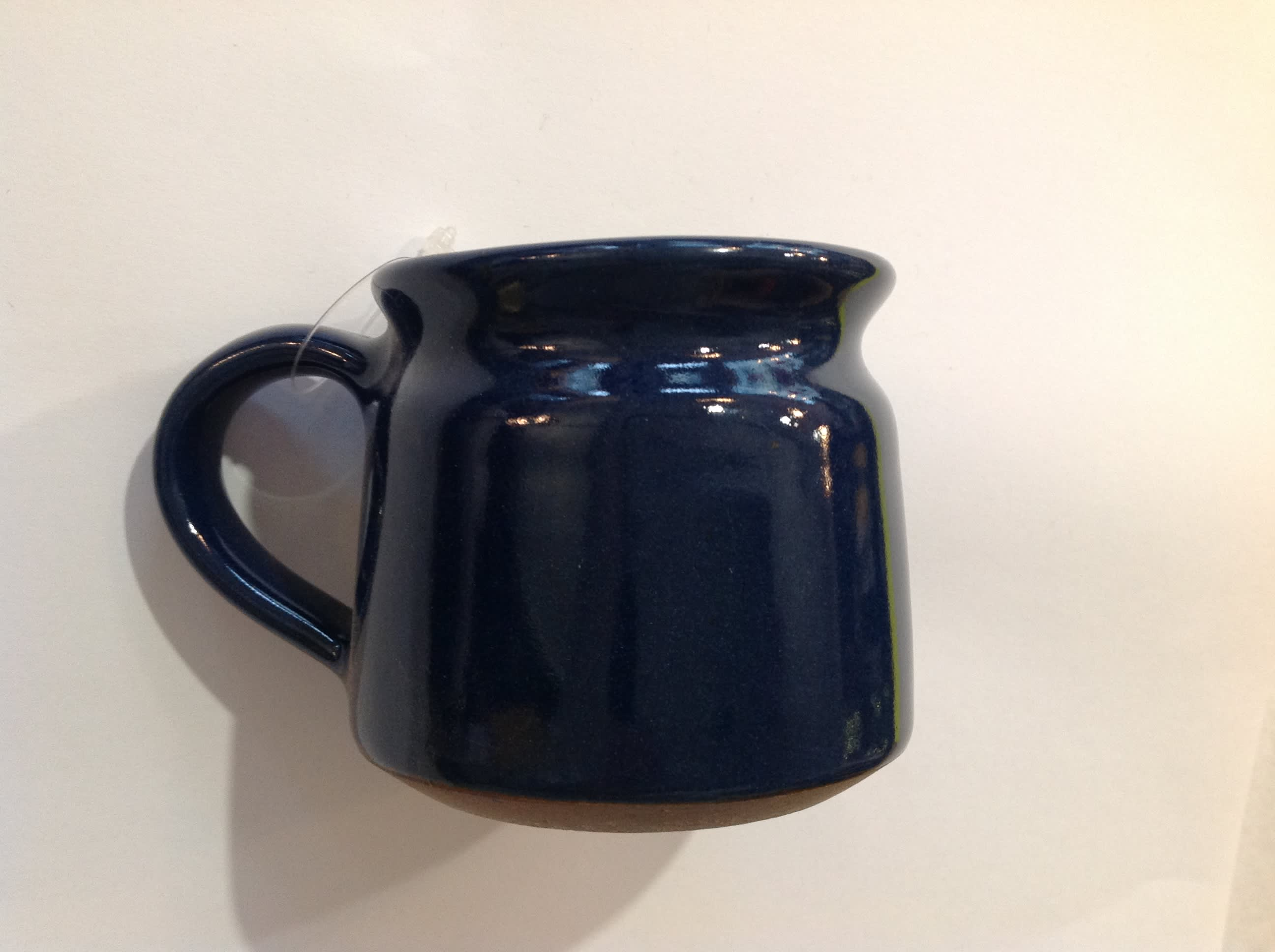 New Overseas Traders Handmade Fairtrade Mug in Dark Blue with white inside