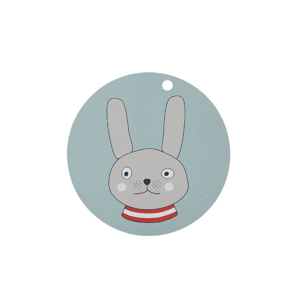 OYOY Minty Rabbit Placemat