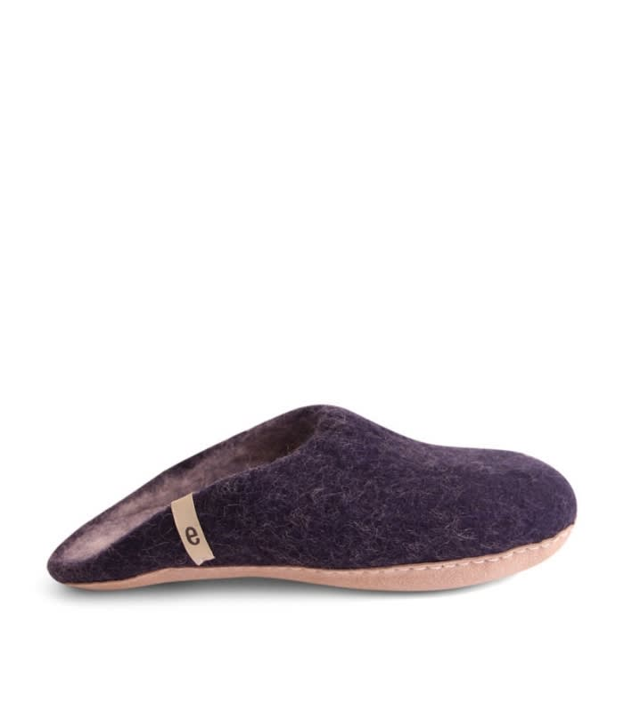 Egos Copenhagen Blue Felted Wool Slippers