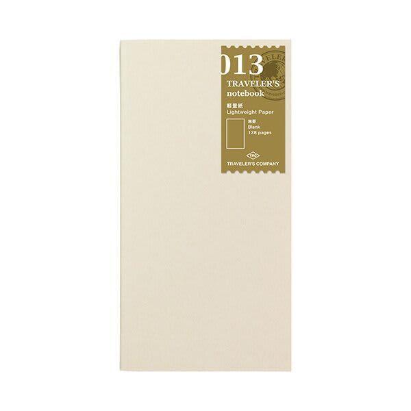 Traveler's Company Traveler's Notebook Refill 013 Lightweight Paper - Regular Size