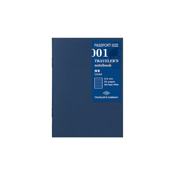 Traveler's Company Traveler's Notebook Refill 001 Lined - Passport Size