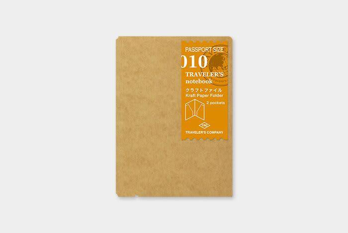 Traveler's Company Traveler's Notebook Refill 010 Kraft File - Passport Size